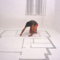 La stanza di Roberto - 2005, pittura lavabile su pavimento, dim. ambiente