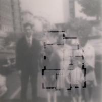 Homefocus 2 - 2007, poliestere ritagliato su fotografia, cm. 60x60