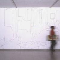 Via Giacinto Carini 71 - 2005, collage di foto su parete, cm. 300x600