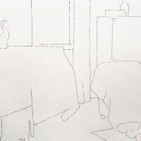 Via Giacinto Carini 71 - 2005, collage di foto su parete