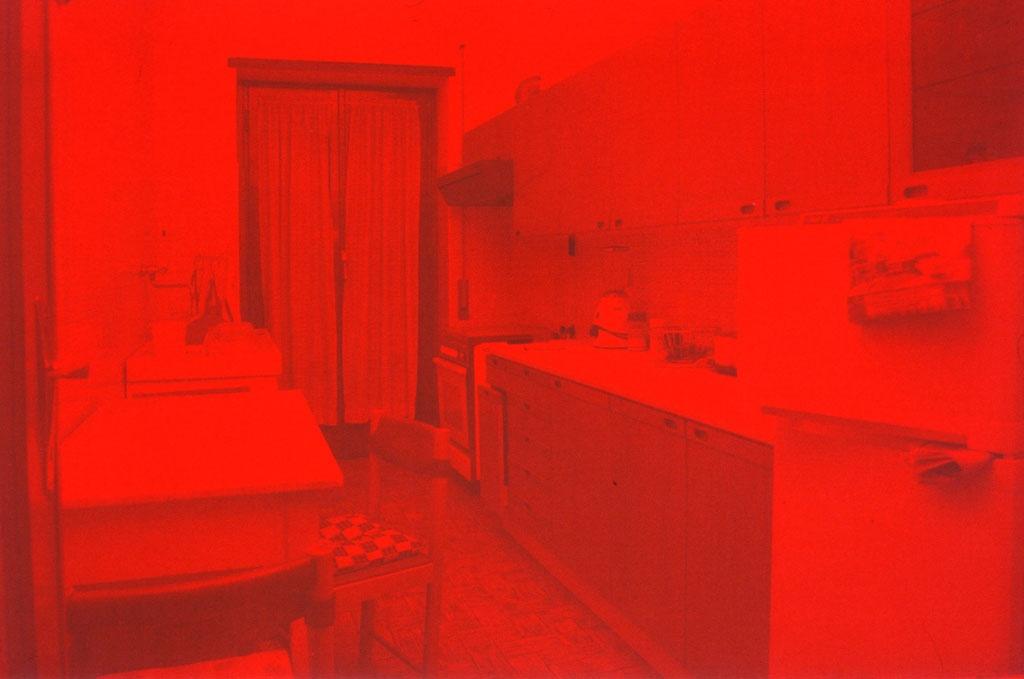 Via Giacinto Carini 71 - 2004, fluorescente su fotografia, cm. 50x70